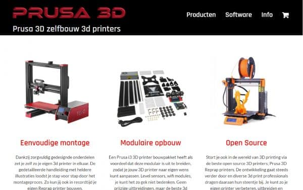 prusa 3d zelfbouw printers kopen